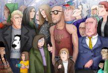 Illustrations of urban people