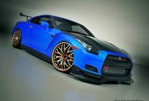 Nissan GT-R /   Nissan GTR - Godzilla Chrome Blue, The Hulk. Red Racer.