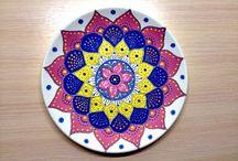MAGIC POINT / Мои расписные тарелочки ! :)