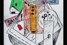 Cubist/Modernist Studies / Pastel studies for possible larger works