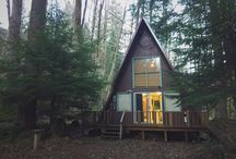 "Cabin Stuffs / Cabins are awesome. Especially A-frame cabins (the ""A"" stands for awesome)."