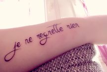 Tattoo je ne regrette rien <3 / My tattoo <3
