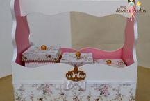 Caixas decoradas para Bebês