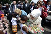 L'orphelinat de jeunes filles / visite de l'orphelinat de jeunes filles de grand-bassam en compagnie de la Première Dame de Turquie