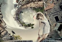 surreal, structures and landscapes