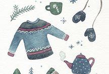 winter, christmas, new year❄