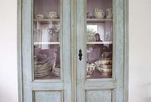 wardeobe, furnitures, painted, chalk paint