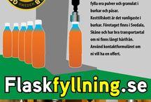 Flaskfyllning & Pulverfyllning / Vi fyller flaskor från 10 ml till drygt 1 liter och har alla tillstånd för flaskfyllning av livsmedel, djurprodukter och kemikalier.  Förutom fyllning i flaskor så kan vi fylla era pulver och granulat i burkar och påsar. Kosttillskott är det vanligaste i burkar.  Företaget finns i Svedala, Skåne och har bra transportavtal om ni finns långt härifrån.   Använd kontaktformuläret om ni vill ha en offert.