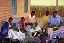 African American  Art- Black Southern Belle