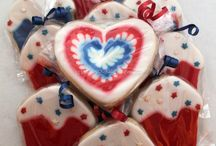 Fourth of July and spirit sugar cookies