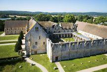 L'abbaye de Royaumont / En 1228, le jeune Louis IX, futur Saint Louis, et sa mère Blanche de Castille fondent l'abbaye de Royaumont, la plus grande abbaye cistercienne d'Ile-de-France, où il séjournera à de nombreuses reprises. Classée monument historique, les bâtiments de l'abbaye sont disposés autour du superbe cloître dont les galeries desservaient les lieux de travail et de prière des moines. Plus d'information : https://goo.gl/XAm43k