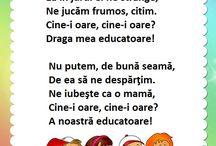 poezii despre educatoare si gradinita