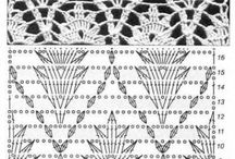 crochet mønstre diagram og billed