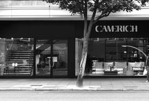 Camerich Showroom: Notting Hill / The newest addition to our London showrooms is now open; just a stones throw away from Notting Hill Gate tube and the lively Portbello Road. The Notting Hill showroom is an eye catchingly modern structured building which compliments our elegant furniture perfectly.
