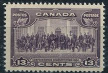 Canada Through the Ages / Canadian historical events and places captured timelessly on Canadian postage stamps