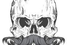 ilustracions. / skulls