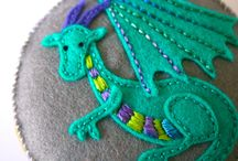 Free Sewing Pincushion Patterns on Pinterest / Visit ChellyWood.com for a free printable pattern for the dragon pincushion on the board's header. It also comes with a free YouTube tutorial showing you how to make it.