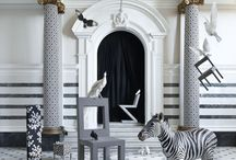 Black & white inspiration / A monochromatic board of all things black & white.