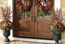 DOUBLE FRONT DOOR DECOR IDEAS / DIY