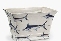 Morph Designs Loves 'Altlantic Blue Marlin Ceramics' / The Atlantic Blue Marlin, often found in the continental shelf canyons off Cape Cod, takes centre stage in this collection, evoking a feeling of breezy seaside rooms & named after the Cape's historic & maritime character.  For more information or to place an order please contact our design studio.  www.morphdesigns.co.uk
