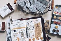 Vintage paper & stamps