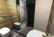 małe a cieszy :) / Projekty małych pomieszczeń- toalet i małych łazienek. Chcemy pokazać, że małe pomieszczenie również może być polem do popisu i wbrew stereotypom warto czasami zaryzykować i poeksperymentować :)