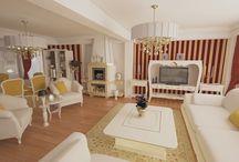 Design interior vile / Proiecte design interior case vile de lux  realizate de Nobili Interior Design in stilul clasic si modern.