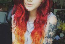 Cores de cabelo / Para quem ama trocar a cor dos cabelos e não gosta de ficar sem mudar.