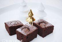 Brownie mit rocherkugeln