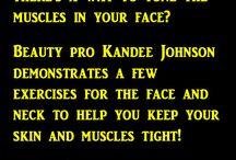 Exercício para o rosto cabeça