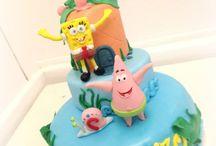 Spongebob Cake Party / Grandissima Spugna dispettosa,il suo super amico Patrick.. e il piccoli Gary. per uno Spongebob party!