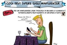 Cosa devi sapere sugli #influenzer!  / Social Web Comics Series  [su http://paoloratto.blogspot.it - disegni di Lucile Zahnd]