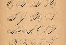 Pointed Pen Calligraphy / Copperplate & Spencerian & Flourishing