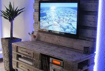 meuble télé palette
