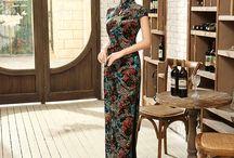 Velvet Cheongsam Qipao Chinese Dress / Velvet Cheongsam Qipao Chinese Dress
