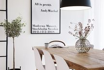 Dining Room Decor / Dining room decor ideas and inspiration, including lighting, furniture, and accessories.