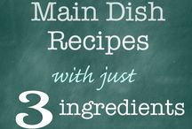 MMM--3 Ingredient Main Dishes