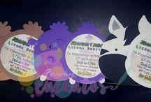 invitaciones Safari / invitaciones en goma eva o Foamy  Cáritas de animalitos de la selva