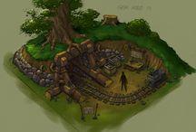 Fantasy mine concepts / Fantasy mine concepts for game-art