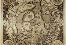 старинные карты мира в высоком разрешении