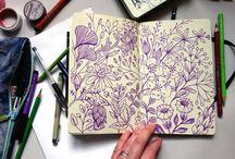 pattern: linear drawings