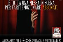 Abbonamenti Teatro / Seconda campagna Lancio Abbonamenti teatro di Messina Second advertising campaign for the subscription at the Theatre season