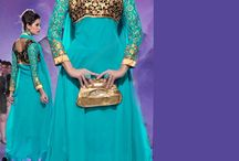 Cheap Party Wear Anarkali Suits / Check out the latest designs of cheap party wear anarkali suits collection of December 2014