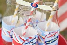 Ideas for Julian's 1st Birthday / Vintage Airplane/ Biplane Theme Invitation, Decorations, Cake and Outfit