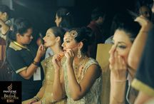 Make up - rush - Women fashion week - desi outfit / Back stage