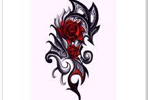 Rose Tribal Tattoos / Random stuff