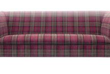 Heather and Tartan /   inspiration for a Heather Green and Tartan's Cosy room set