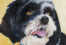 Shelter Dogs / In order to give back to our fabulous pets I went to the local Humane Society and selected several dogs to do their portraits. Here are the paintings done in oil on a contemporary canvas.  I give back to the Humane Society each time one is sold as a print.  There is a story about each dog so if anyone is interested I will send you the story.  Look in their eyes and tell me you care.