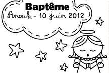 Tampon baptême et naissance à personnaliser / Un grand choix de tampons à personnaliser pour vos baptêmes