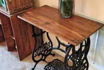 Repurposed Sewing tables & treadles